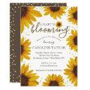 Rustic Sunflower Baby Is Blooming Shower Invitation