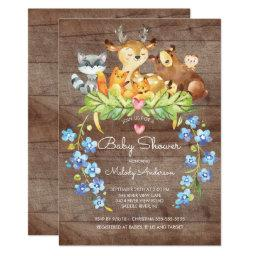 Rustic Woodland Animals Baby Shower