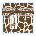 Safari Boy Invitations Square 2b