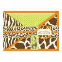 Safari Boy Orange Invitation Invitations 3