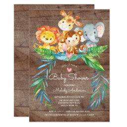 Safari Jungle Animals Baby Shower