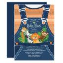 Safari Jungle Animals Baby Shower Invitations