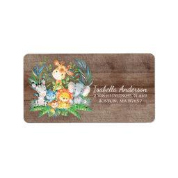Safari Jungle Baby Shower Address Label