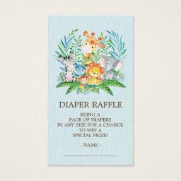 Safari Jungle Baby Shower Diaper Raffle Ticket