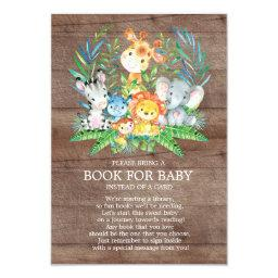 Safari Jungle Neutral Baby Shower Book for Baby