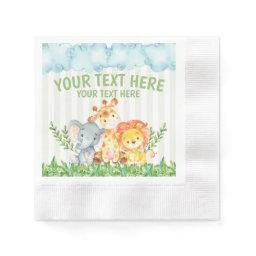 Safari Jungle Zoo Animal Napkins