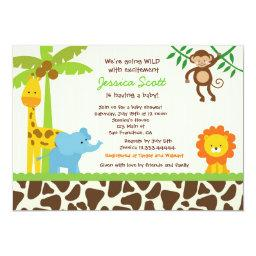 Safari Jungle Zoo Baby Shower