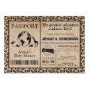 Safari Passport Baby Shower Invitation