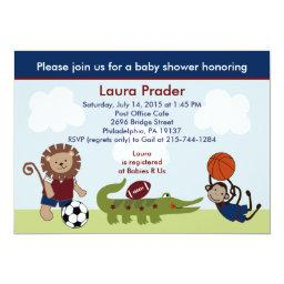 Safari Team/animals Sports Baby Shower Invitation