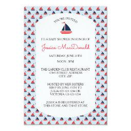 Sailboat Pattern - 3x5 Baby Shower
