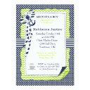 Sailor Baby Invitation In Lime Green & Navy