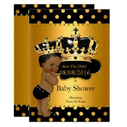 Save The Date Prince Baby Shower Ethnic