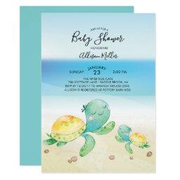 Sea Turtle Baby Shower Invitation