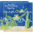 Sea Turtles Ocean Beach Neutral/boys Baby Shower Invitation