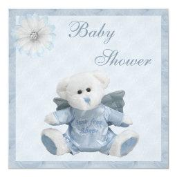 Sent From Above Angel Teddy Boys Baby Shower