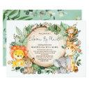 Shower By Mail Long Distance Greenery Baby Safari Invitation
