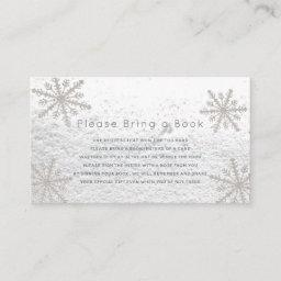 Silver Snowflakes Please Bring A Book Invitations