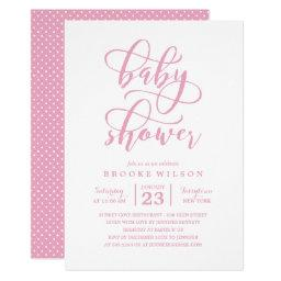 Simple Pink Baby Shower