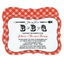 Simple Red Gingham Bbq Baby Shower