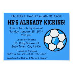 Soccer Baby Shower , Customizable