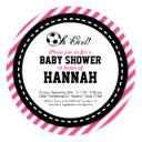 Soccer Girl Baby Shower Invitation