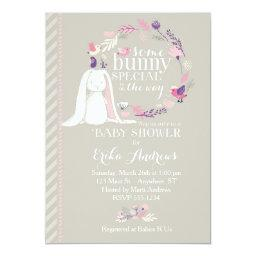 Some Bunny Special Baby Shower Invitations (gray)