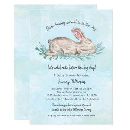 Some-bunny special book baby shower for boy
