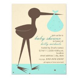 Stork baby shower invitations babyshowerinvitations4u sophisticated stork robins egg blue baby shower filmwisefo