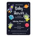 Space Dinosaur Galaxy Baby Shower Invitation