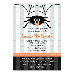 Spider Halloween Baby Shower Invitationss