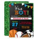 Sports Baby Shower Invitation