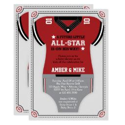 Sports Baby Shower , Football, Red Black