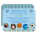 Sports Football Baseball Baby Shower Invitation