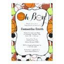Sports Oh Boy! Baby Shower Invitation