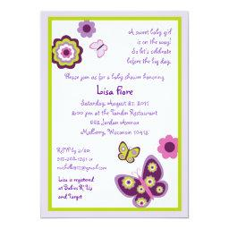 Spring Butterfly Flower Baby Shower