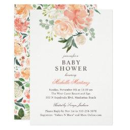 Spring Peach Blush Watercolor Floral