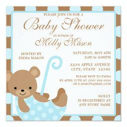 Square Baby Bear Baby Shower
