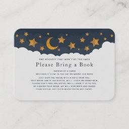 Starry Clouds Baby Shower Please Bring A Book  Invitations
