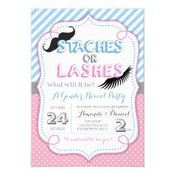 Stashes or Lashes Gender Reveal