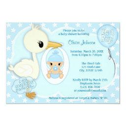 Stork Delivery baby shower  BOY BLUE 2A