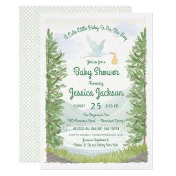 Stork's Journey Baby Shower Invitation