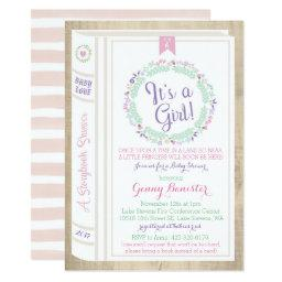 Story Book Baby Shower Invitation