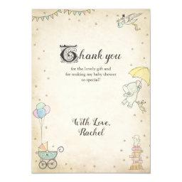 Story Book Baby Shower Thank You Invitations