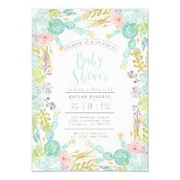 Succulent Garden Watercolor | Baby Shower Invite