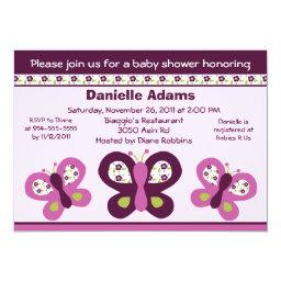 Sugar Plum Butterflies #2 Baby Shower