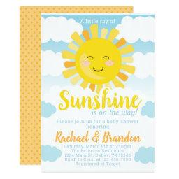 Sunshine Baby Shower Invitation Invite