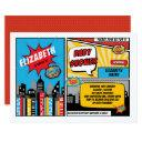Superhero Baby Shower / Superheroes Comic Book Invitation