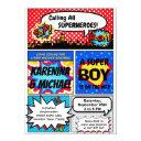 Superhero Couples Baby Shower Party Invitation