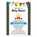 Superhero Polka Dot Bunting Baby Shower Invitation
