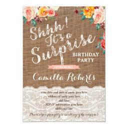 Surprise Birthday Party Invites, Any Age, Autumn